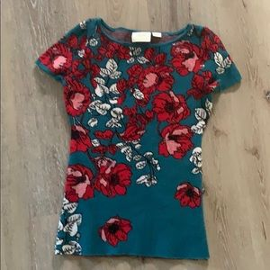 Maeve by anthropology-floral knit top